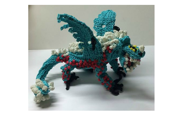 Blue Rainbow Loom Dragon