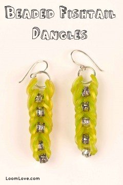 beaded fishtail dangles