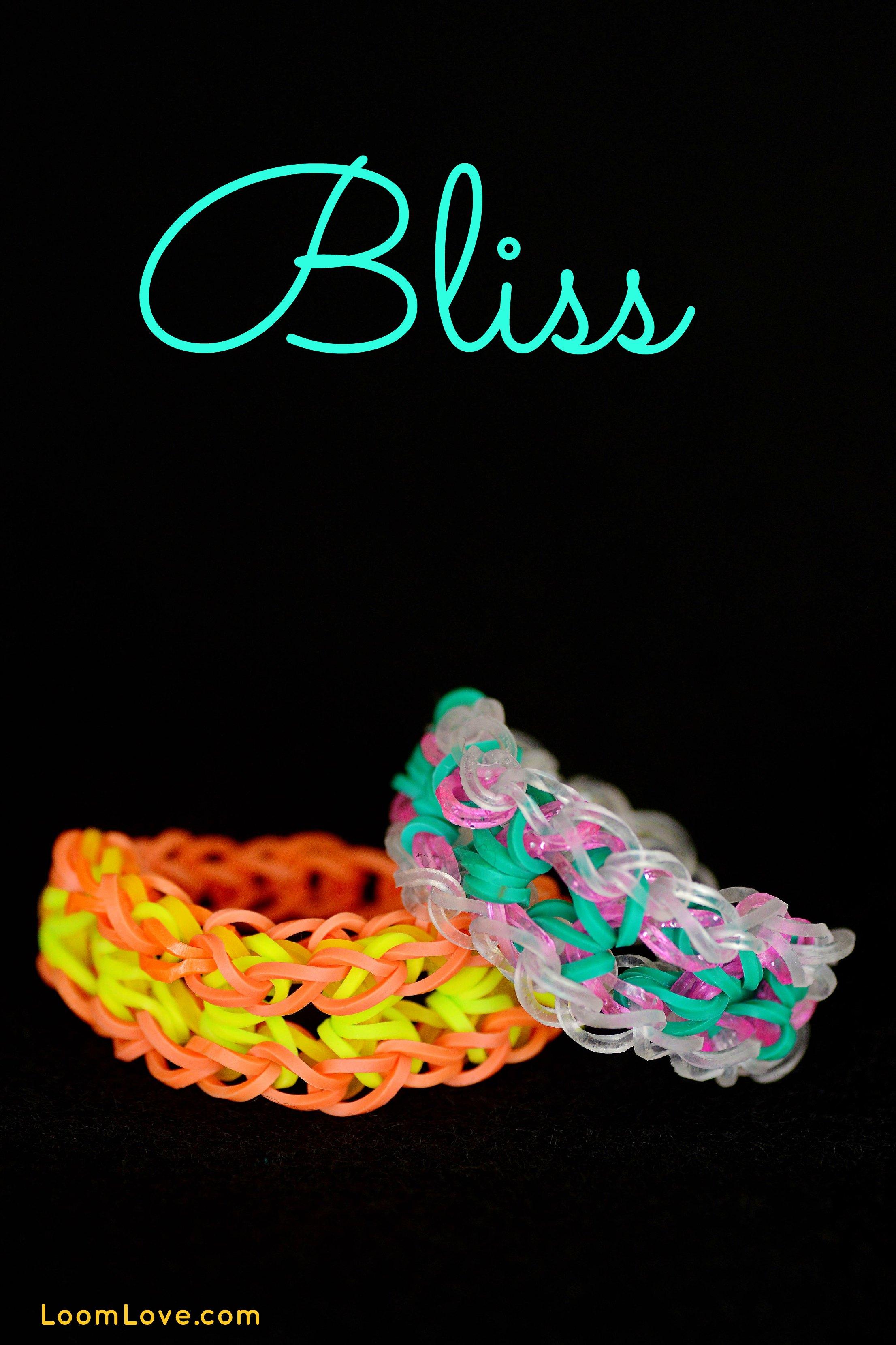 how to make a rainbow loom bliss bracelet