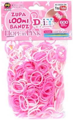 Hope in pink rubber bands