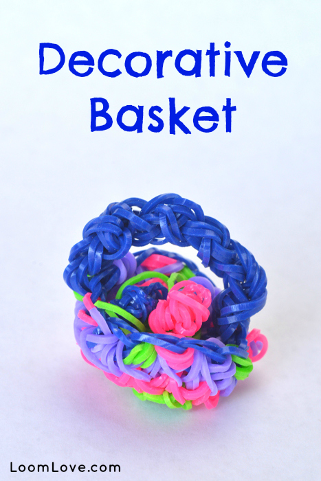 How To Make The Basket Weave Rainbow Loom : How to make a decorative rainbow loom basket