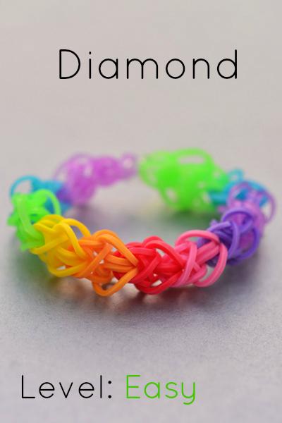 Rainbow Loom Patterns Diamond How to Make a Diamond ...