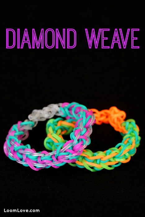 How To Make The Basket Weave Rainbow Loom : How to make a rainbow loom diamond weave bracelet
