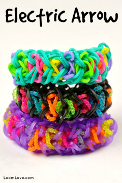 electric arrow rainbow loom