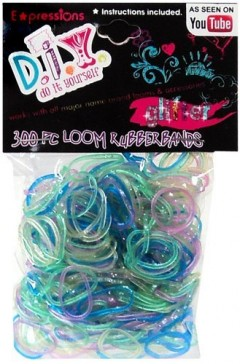 glitter rubber bands