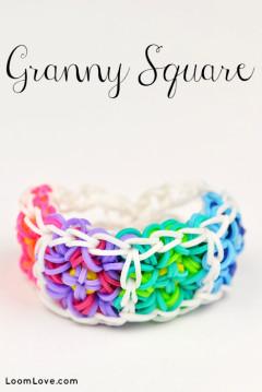 granny square rainbow loom
