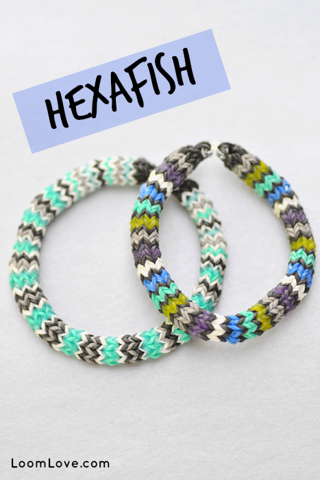 how to make a rainbow loom hexafish bracelet