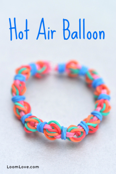 hot air balloon rainbow loom