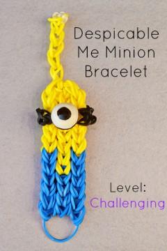 minion rainbow loom bracelet