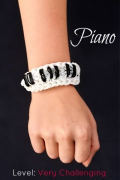 piano rainbow loom