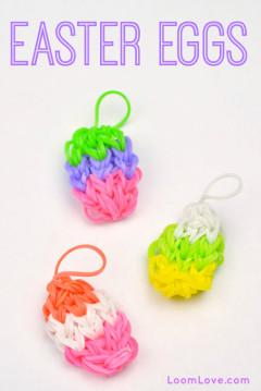 rainbow loom easter eggs