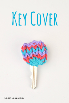 rainbow loom key cover