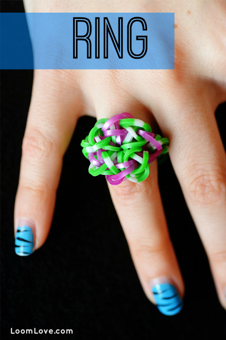 how to make a rainbow loom ring