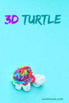 rainbow loom 3d turtle