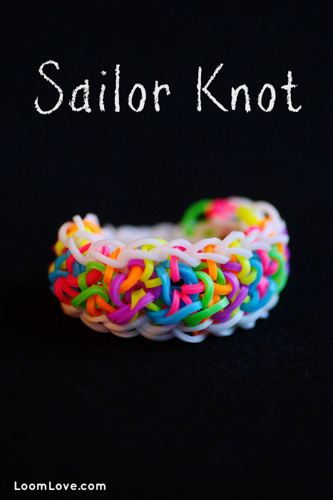 How to Make a Rainbow Loom Sailor Knot Bracelet