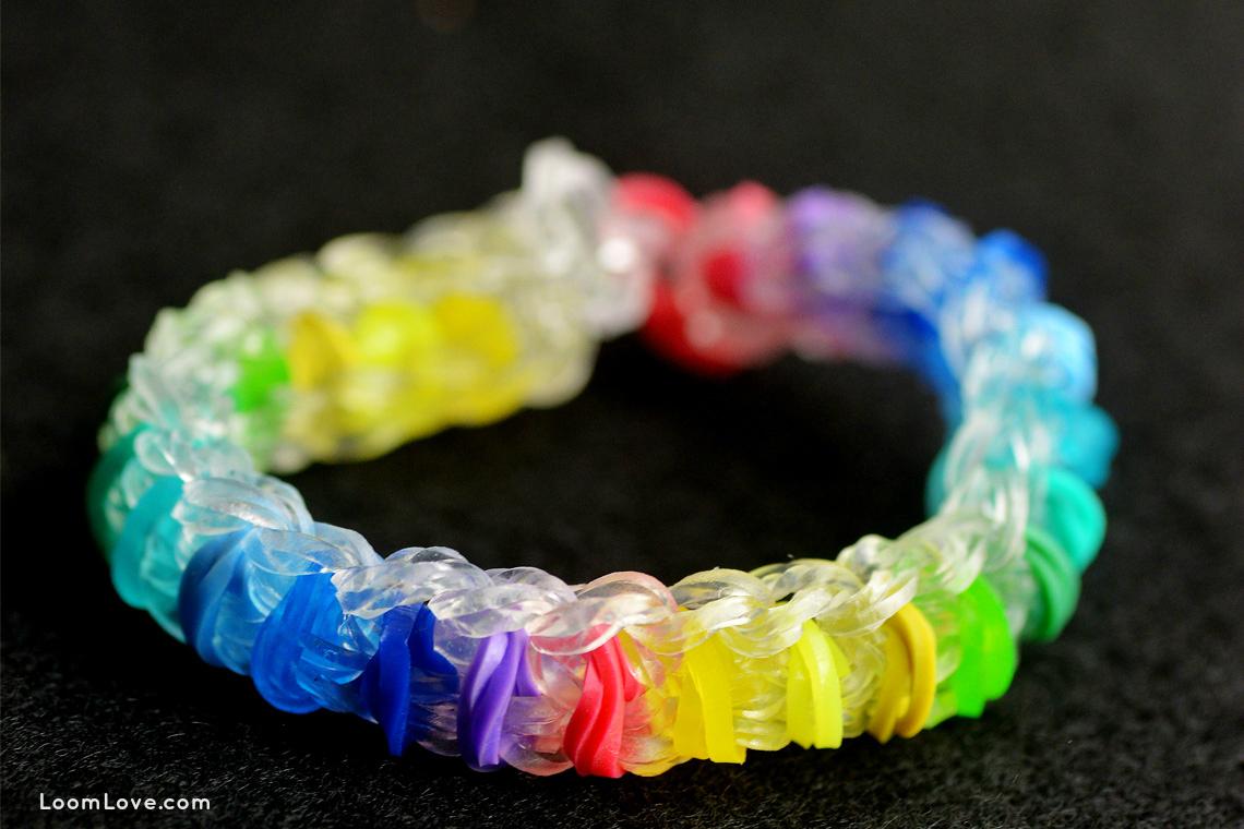 Rainbow loom rainbow pattern