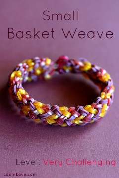 small basket weave rainbow loom