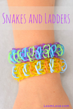 snakes and ladders rainbow loom