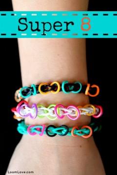 super 8 rainbow loom