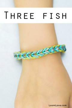 three fish rainbow loom