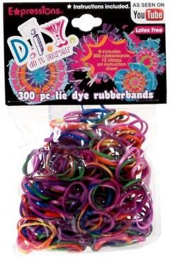 tie dye rubber bands