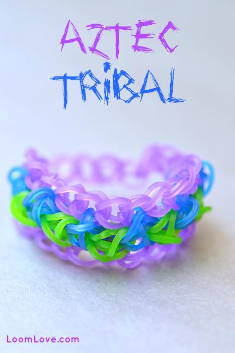 How To Make A Rainbow Loom Aztec Tribal Print Bracelet