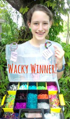 wacky winner rainbow loom contest