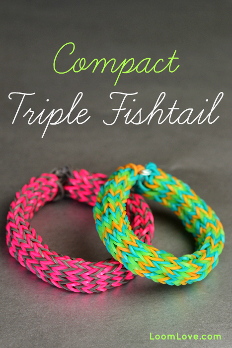 how to make a rainbow loom compact triple fishtail on the