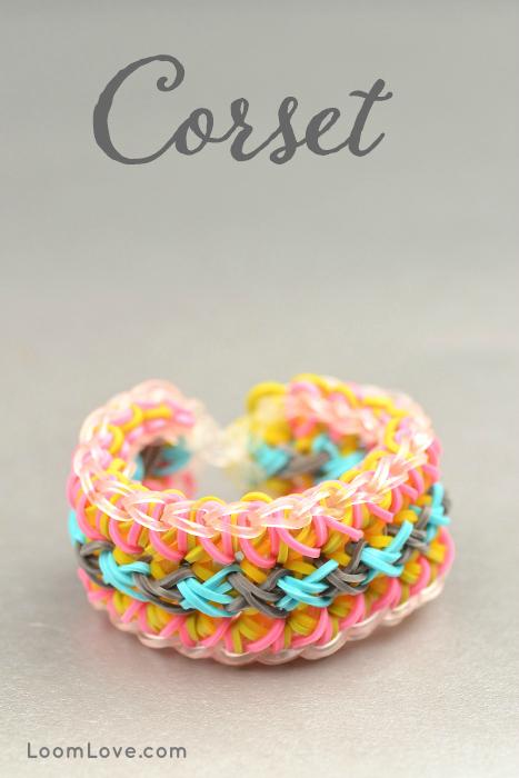 How To Make A Rainbow Loom Corset Bracelet