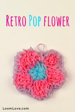 retro pop flower
