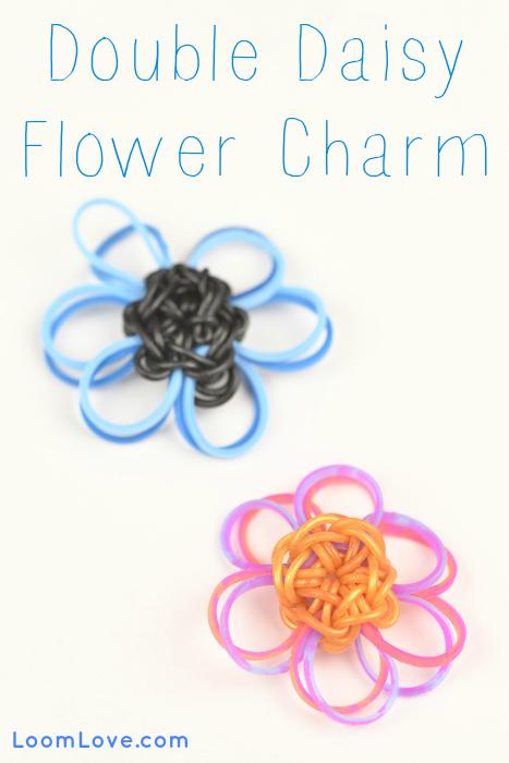 How To Make A Rainbow Loom Double Daisy Flower Charm