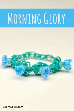 rainbow loom morning glory
