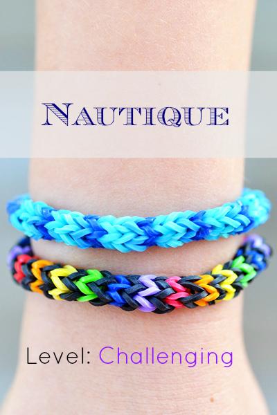 how to make the nautique rainbow loom bracelet