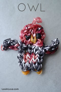 owl rainbow loom
