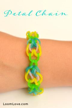 petal chain rainbow loom