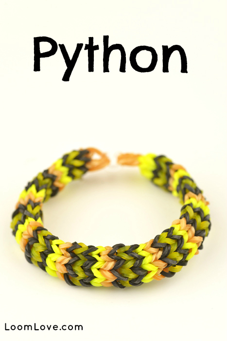 How To Make A Rainbow Loom Python Bracelet