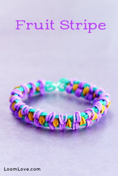 rainbow loom fruit stripe