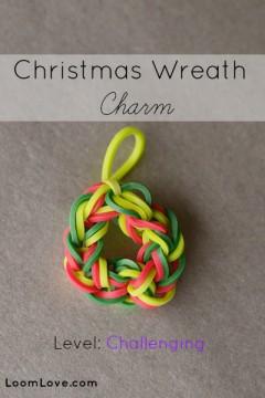rainbow loom wreath charm