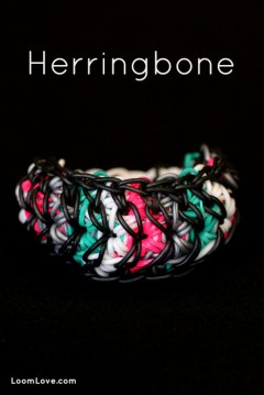 rainbow loom herringbone