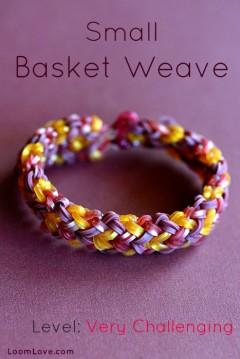 small basket weave rainbow loom