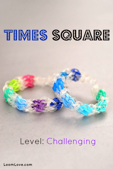 how to make the times square rainbow loom bracelet