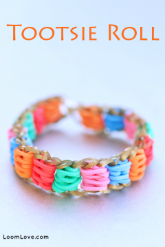 tootsie roll rainbow loom
