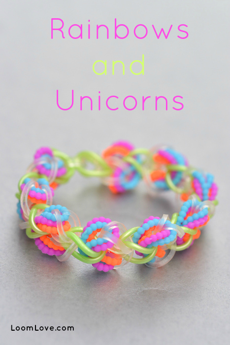 How To Make A Rainbows And Unicorns Bracelet On A Hook